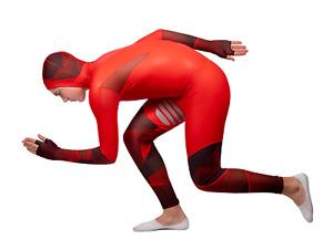 Edge Long Track speed skates SKINSUIT rubber 003-26