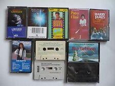 Lot of 10 Mixed Assorted Cassette Tapes Streisand Elvis Reba Inkspots Orbison