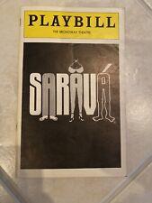 Playbill The Broadway Theater Sarava