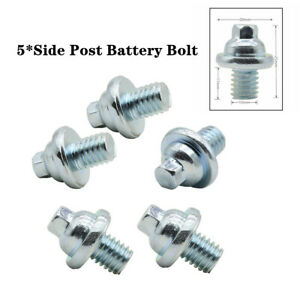 5X 10MM M10 Stainless Steel Side Post Battery Terminal Universal Bolt Durable