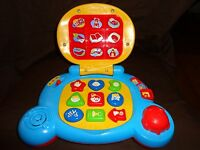 """Vtech Baby Learning Laptop Musical ABC Heavy Duty Educational Light Up Toy 9"""""""