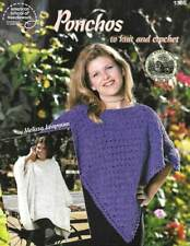 NEW PONCHOS TO KNIT & CROCHET MUST SEE!!!