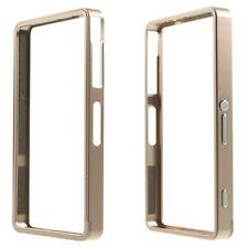 Sony Xperia Z3 Compact Metal Bumper Slide on Frame Schutz Hülle Rahmen Gold