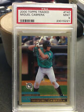 Topps Traded 2000 Miguel Cabrera Marlins Tigers PSA 9 Mint Rookie Card! |