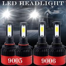 4PC 9005 9006 LED Total 32000LM Combo Headlight Kit Bulbs 6000K White Hi-Lo Beam
