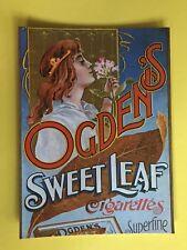 OGDENS SWEET LEAF CIGARETTES ADVERT POSTCARD