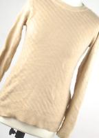Stradivarius Gold Cotton Blend Womens Jumper Size S (Regular)