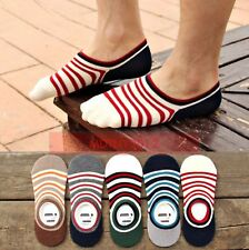 10 Pairs Men Loafer Boat Invisible No Show Nonslip Liner Low Cut Cotton Socks