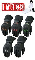 ISLERO Wind Waterproof Thermal Motorbike Motor cycle Gloves Racing Thinsulate