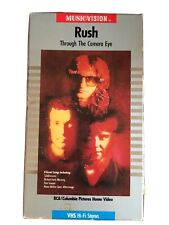 RUSH - VHS - Through the Camera Eye - 1985 - Video Collection - Neil Peart