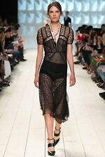 Nina Ricci Spring 2015 Runway Patchwork Lace Dress Size FR38