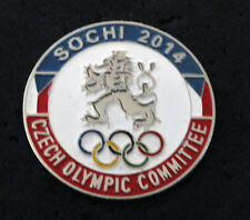 SOCHI 2014 Olympic CZECH Delegation team large pin