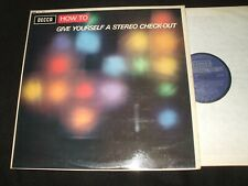 1967 DECCA SKL 4861 - STEREO - HOW TO GIVE YOURSELF A STEREO CHECK-OUT VINYL LP