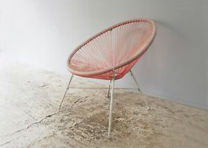 1950's retro 'Acapulco' vinyl rope bucket chair