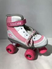 White/Pink Roller Derby Girls' Firestar Roller Skates size Y 3