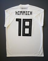 5+/5 Germany #18 Kimmich 2018 Football Soccer Home Jersey Shirt Size L Adidas