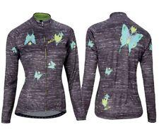 NALINI Butterfly Woman's Long Sleeve Jersey, Size M. Black #02337301100C000.1