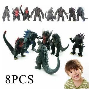 """8 Pcs Godzilla King of The Monsters 3""""Godzilla vs King Kong Model Figure Toy NEW"""