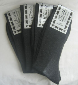 4 Pair Socks without Elastic Diabetic Socks 100% Cotton Grey 39 To 46 Classic