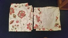 Another PAIR OF LINED CURTAINS (FLOWERED) - app. 64 in (L) x 63 ins (W) - in VGC