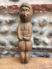 Très Belle Sculpture Bois Statue  Personnage Belle Patine XIXe