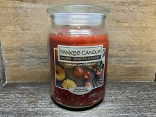 Yankee Candle Home Inspirations Pumpkin Apple Harvest 19 Oz Jar Candle NEW