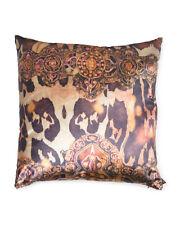 """Aviva Stanoff Hand Printed Velvet Dec Down Pillow Multi Color 20"""" x 20"""" Nwt"""