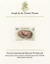 Tuvalu 3038 - 1986 CRABS  50c on Format International PROOF  CARD