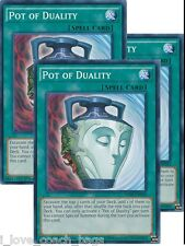 Pot of Duality - SDHS-EN034 1st Edition x 3 MINT YU-GI-OH! Hero Strike