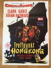 Treffpunkt Hongkong (Kinoplakat '55)- Clark Gable / Susan Hayward / Braun-Grafik