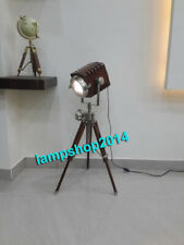 Vintage Styl Table searchlight with stand nautical sport light with wooden lamp