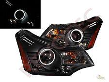 08-11 Ford Focus SE SES G3 Super Bright Halo LED Projector Headlights Black