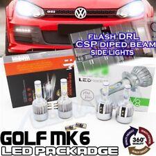 VW Golf MK6 H7 H15 LED HEADLIGHT Bulbs pacchetto DRL Abbaglianti FLASH LUCI LATERALI