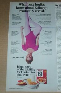 1981 print ad - Kellogg's cereal Girl in leotard tights pantyhose Advertising