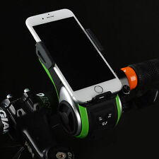 RockBros Multifunction Cycling Audio Player Bike Bell Light Bicycle Phone Holder