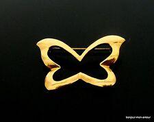 alte, vergoldete Schmetterling Brosche, Butterfly brooch, broche, Tuch Anstecker