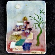 VOLDEMAR VOLKOFF (1932-2007) VALLAURIS CERAMIC WALL PLAQUE RUSSIAN PALACE e