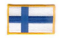 Toppe Toppa PATCH FINLANDIA 7x4,5cm Bandiera banderina ricamata termoadesivo