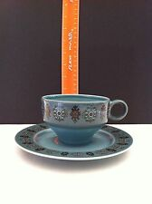 Vintage Blue Taylor Smith & Taylor MATADOR Cup And Saucer Set Granada