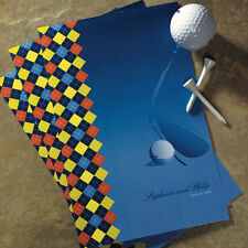 Golf Theme Personalized Wedding Programs 24/pk