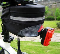 Black Cycling Bike Bicycle Outdoor Pouch Saddle Seat Bag Quick Release Riding