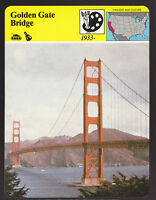THE GOLDEN GATE BRIDGE San Francisco California Photo 1980 STORY OF AMERICA CARD