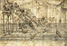 Study Background of the Adoration of the Magi 1481 Leonardo da Vinci Poster