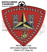 3rd Combat Engineer Battalion Patch (USMC Marine Corps Eng Bn)