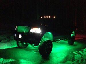 8PCS Under body RGB LED Rock Lights Lamps Multi-Color For Jeep Truck UTV Offroad