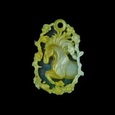 Carved MOP Stone Horse Bead GM042019