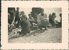 France, au Sommet du Mont-Joly, Pique-Nique Vintage silver print Tirage arge