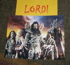 LORDI Autographed Photo - REAL Collectible