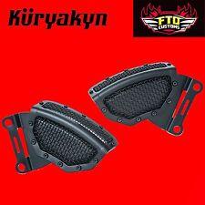 Kuryakyn Black Mesh Front Caliper Covers for '08-'17 H-D Touring 6539