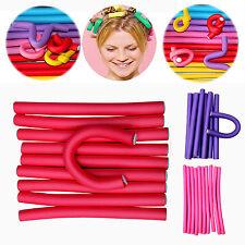Hi 10Pcs Simple Soft Foam Curler Makers Bendy Twist Curls Tool Styling Hair New